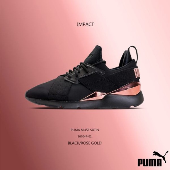 womens puma muse metal athletic shoe